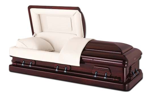 Parliament mahogany affordable casket company for Black casket with red interior